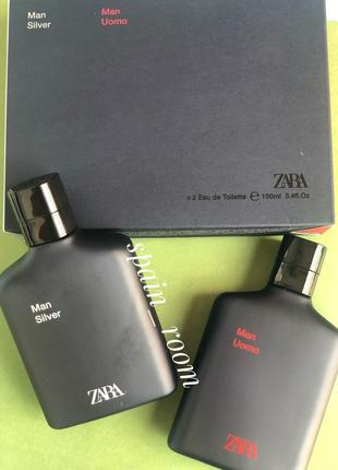 Духи zara silver&uomo/парфюм/туалетная вода/парфуми/туалетна вода/чоловічі zara