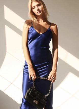 Шикарное нарядное коктейльное длинное платье комбинация армани шелк