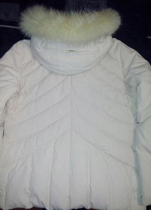Пуховик кремовый светлый короткий куртка зимняя