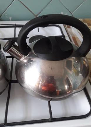 Чайник из нержавейки со свистком.