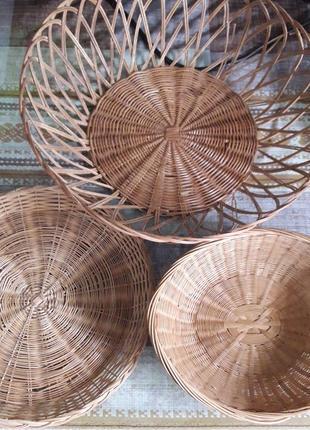 Комплект фруктовниц из ручной работы из натурального материала