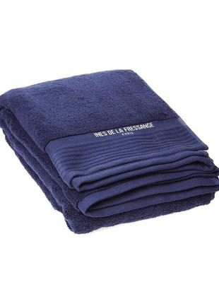 Хлопковое банное полотенце ines de la fressange синее(франция)