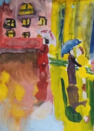 """Картина""""дождь"""""""