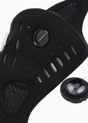 Защиьная вело маска с клапаном и фильтром2 фото