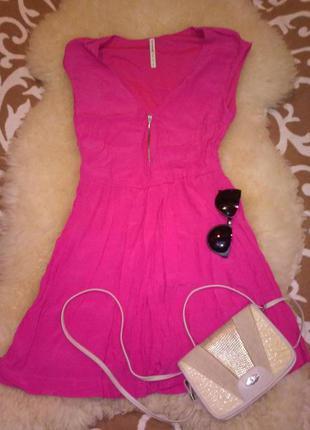 Яркое летнее платье stradivarius