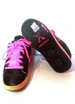 Роликовые кроссовки на колёсиках sidewalk sport, сша / ролики heelys, р.33 код w3303