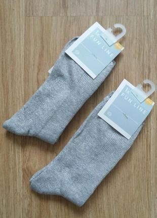 Красивые носочки с люрексом c&a германия. р. 39/42
