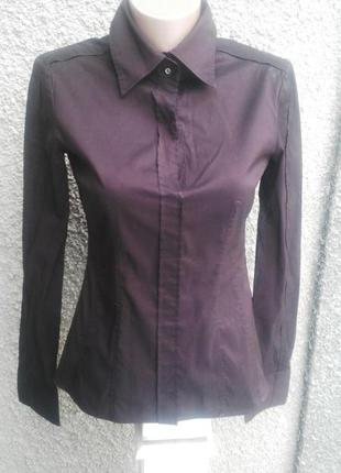 Красивая рубашка шоколадного цвета,блуза, hugo boss,люкс бренд
