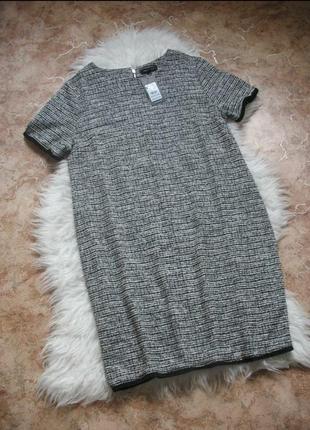 Плотненькое платье с бахромой  new look.