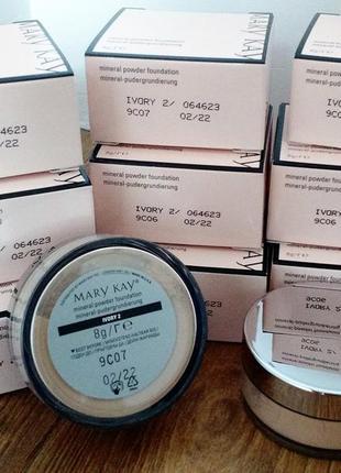 Минеральная рассыпчатая пудра mary kay ivory 2, мэри кэй (+футляр в подарок)