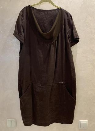 Платье льняное, италия. размер  l.
