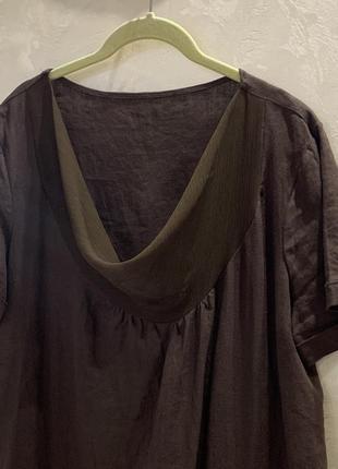 Платье льняное, италия. размер  l.3 фото