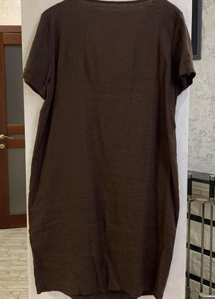 Платье льняное, италия. размер  l.6 фото
