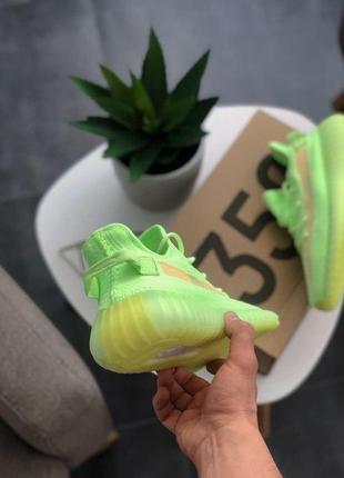 Шикарные кроссовки унисекс adidas yeezy boost 350 v2 glow6 фото