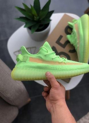 Шикарные кроссовки унисекс adidas yeezy boost 350 v2 glow5 фото