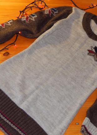 Зимний свитер-туника