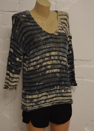 Кофта сетка свитер свободного покроя