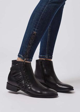 Натуральные кожаные ботинки,сапоги  top shop  р.39-40