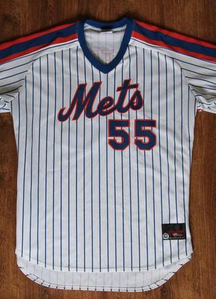 Мужское джерси rawlings mlb new york mets shawn estes #55 jersey
