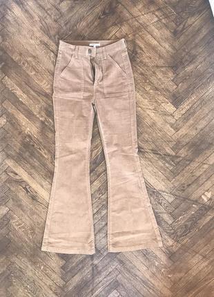 Обалденные вельветовые брюки клёш