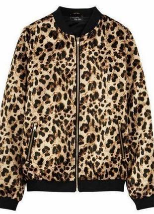 Бомбер леопардовый женский от esmara 34,36,38,40
