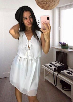Лёгкое летнее платье много цветов