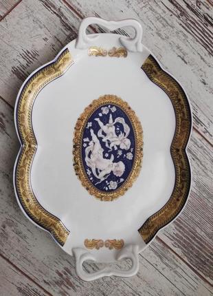 Коллекционный поднос belle epoque fine porcellana