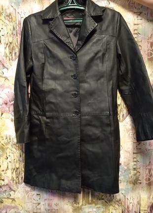 Пальто, френч кожаный