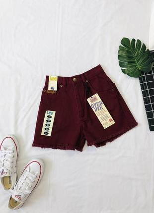 Джинсовые винтажные шорты мом на высокой посадке/ джинсові шорти/ винтаж