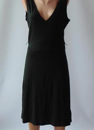 Черное трикотажное платье л mexx