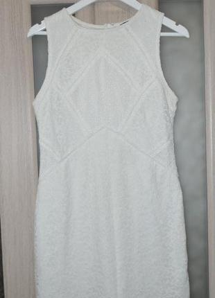Нарядное гипюрове платье фирмы topshop р 12-14 в отл сост