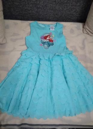 Летнее нарядное платье для девочки 7-8 лет