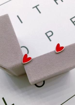 Серьги сердца, сережки, кульчики2 фото