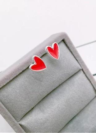 Серьги сердца, сережки, кульчики3 фото