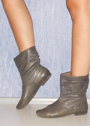 Сапоги ботинки кожаные 39р. демисезонные утепленные