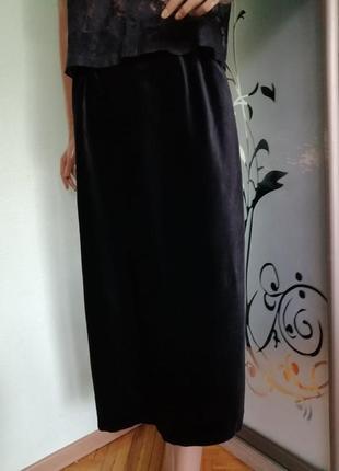 Натуральная бархатная юбка большого размера