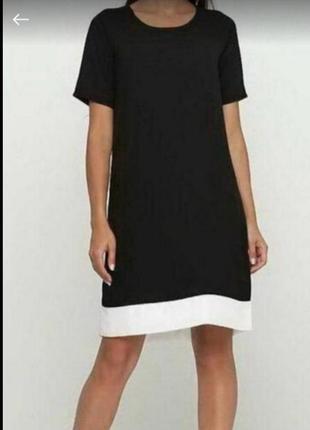 Красивое черно- белое платье