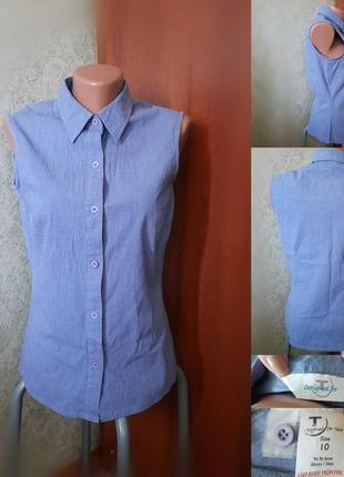 Приталенная блуза без рукавов
