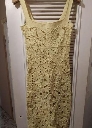 Handmade вязаное крючком платье