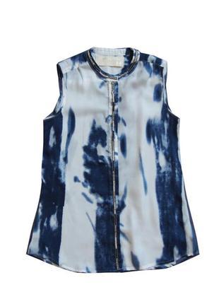 Шикарная блузка  с имитацией тай-дай расшитая бисером  circle of trust