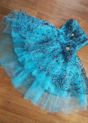 Выпускное свадебное  вечернее карнавальное платье фатин мальвина