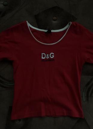 Укорочена футболка от d&g скидка на пару дней💜