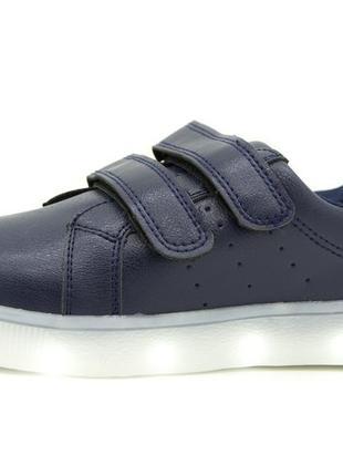 Светящиеся кроссовки для мальчиков черный размеры: 30, 31, 32, 33, 34, 35