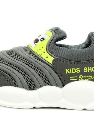 Кроссовки для мальчиков серый размеры: 21, 22, 23, 24, 25, 26