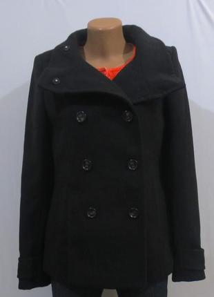 Роскошное черное пальто от h&m размер: 46-м