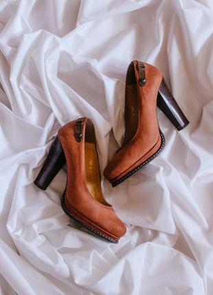 Женские туфли на устойчивом каблуке, удобные туфли, модные туфли коричневые