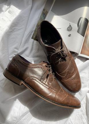 Туфли мужские лоферы на шнурке