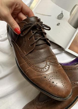 Туфли мужские лоферы на шнурке4 фото