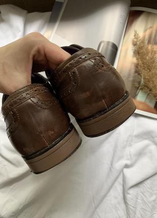 Туфли мужские лоферы на шнурке5 фото