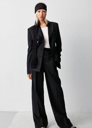 Оригинальные теплые брюки от бренда h&m studio разм. 40